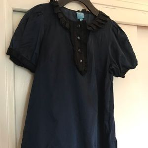 Coop by Barney's Ruffle trim short sleeve blouse